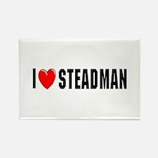I Love Steadman Rectangle Magnet