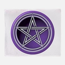 Purple Pentacle Throw Blanket