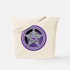 Purple Pentacle w/inlay Tote Bag