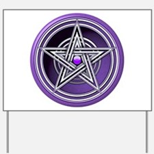 Purple Pentacle w/inlay Yard Sign