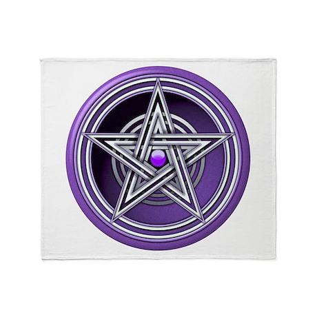 Purple Pentacle w/inlay Throw Blanket