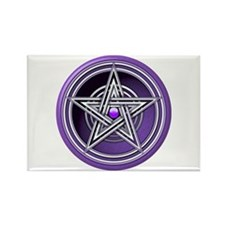 Purple Pentacle w/inlay Rectangle Magnet