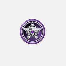 Purple Pentacle w/inlay Mini Button