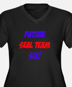 Future Seal Team Six! Women's Plus Size V-Neck Dar