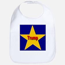 Trump Star Monograms Bib