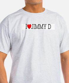 I Love Jimmy D Ash Grey T-Shirt