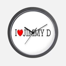 I Love Jimmy D Wall Clock