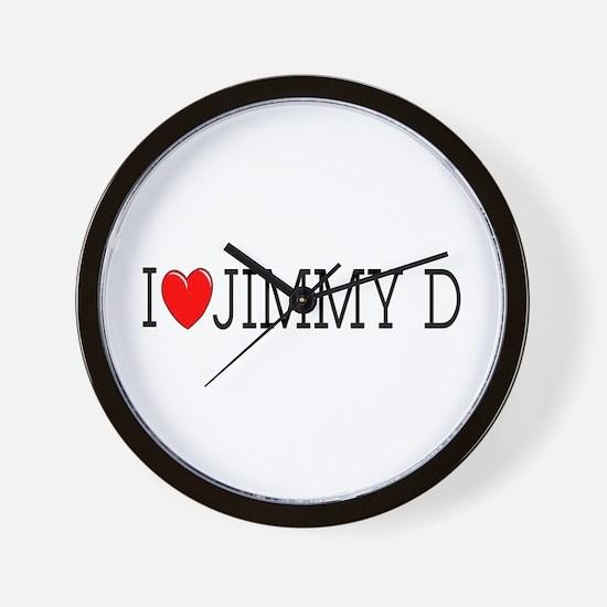 I Love Jimmy D Wall Clock
