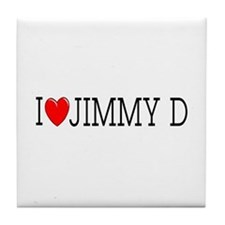 I Love Jimmy D Tile Coaster
