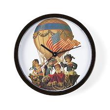 Vintage Patriotic Children Wall Clock