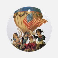 Vintage Patriotic Children Ornament (Round)