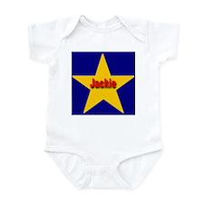 Jackie Star Monogram Infant Creeper