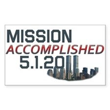 Mission Accomplished 5.1.11 9/11 Decal