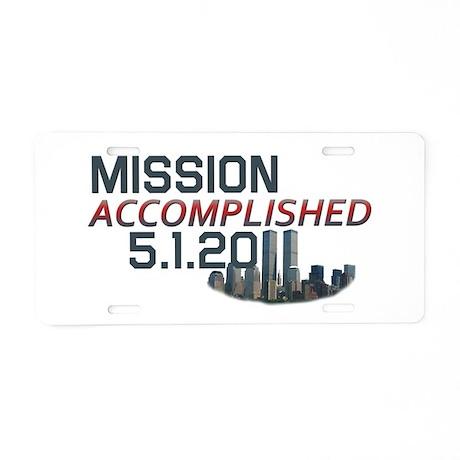 Mission Accomplished 5.1.11 9/11 Aluminum License