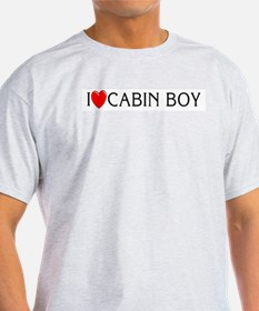I Love Cabin Boy Ash Grey T-Shirt