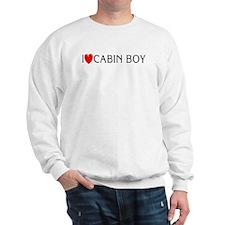 I Love Cabin Boy Sweatshirt