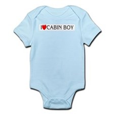 I Love Cabin Boy Infant Creeper