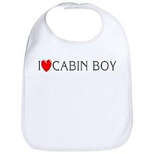 I Love Cabin Boy Bib