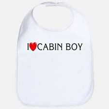 I Love Cabin Boy Bib