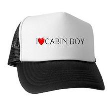 I Love Cabin Boy Trucker Hat
