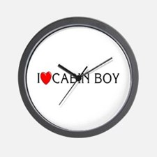 I Love Cabin Boy Wall Clock