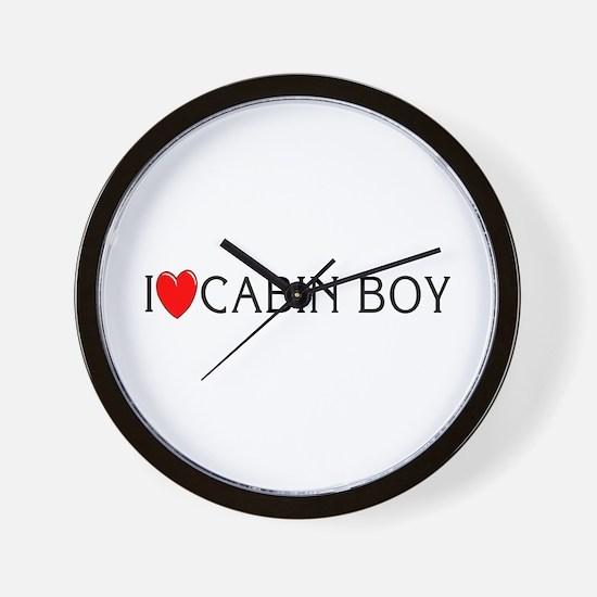 I Love Cabin Boy Wall Clock