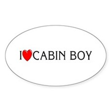 I Love Cabin Boy Oval Decal