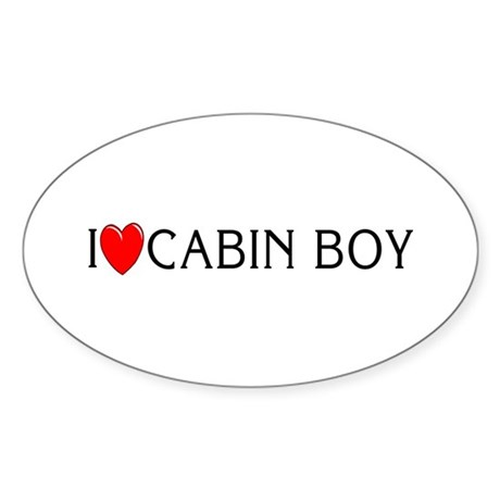 I Love Cabin Boy Oval Sticker