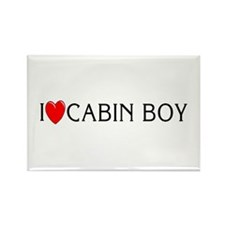 I Love Cabin Boy Rectangle Magnet