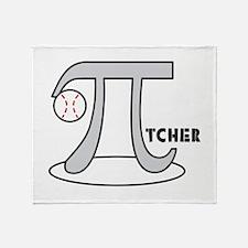 Funny Baseball Pi-tcher Throw Blanket
