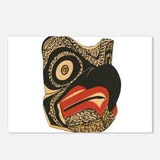 Cute Totem pole Postcards (Package of 8)
