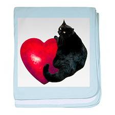 Black Cat Heart baby blanket