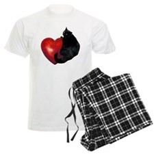 Black Cat Heart Pajamas