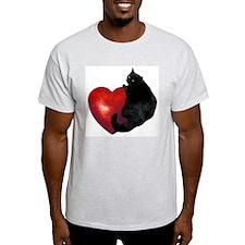 Black Cat Heart T-Shirt