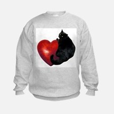 Black Cat Heart Sweatshirt