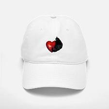 Black Cat Heart Baseball Baseball Cap