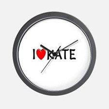 I Love Kate Wall Clock