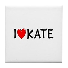 I Love Kate Tile Coaster