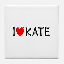 I Love Kate Tile Coaster