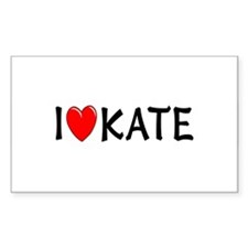 I Love Kate Rectangle Decal