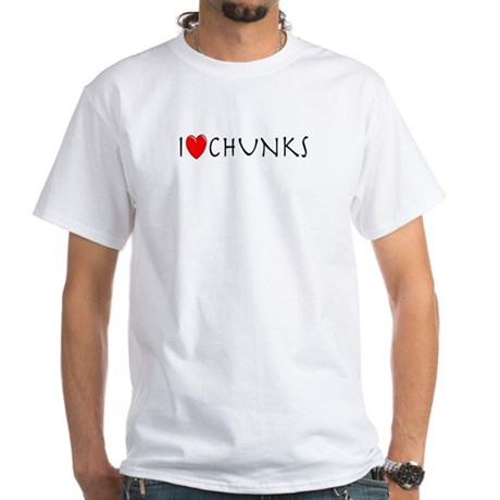 I Love Chunks White T-Shirt