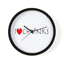 I Love Chunks Wall Clock