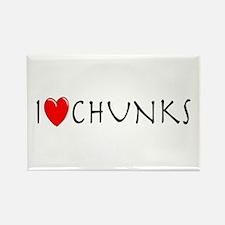 I Love Chunks Rectangle Magnet