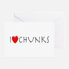 I Love Chunks Greeting Cards (Pk of 10)