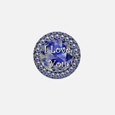 I Love You Diamonds Mini Button