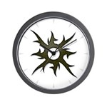 Tribal Solar Thorns Wall Clock