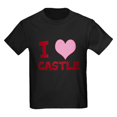 I Heart Castle Kids Dark T-Shirt