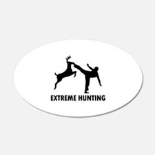 Extrema Hunting Deer Karate Kick 22x14 Oval Wall P