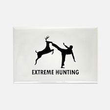 Extrema Hunting Deer Karate Kick Rectangle Magnet