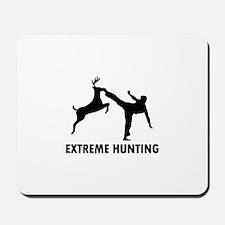 Extrema Hunting Deer Karate Kick Mousepad